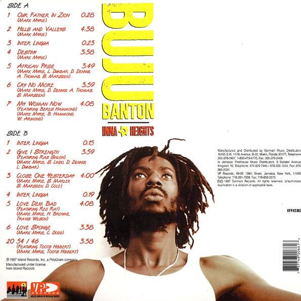 Buju Banton : Inna Heights | LP / 33T  |  Oldies / Classics