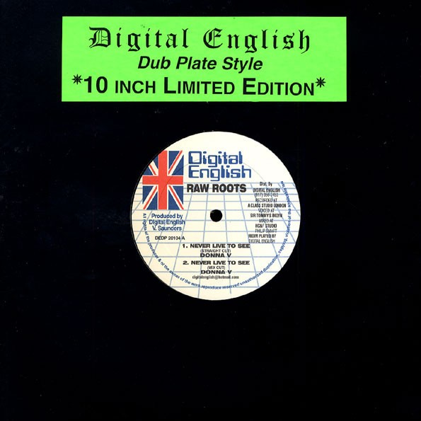Donna V : Never Live To See ( Straight Mix ) | Maxi / 10inch / 12inch  |  UK
