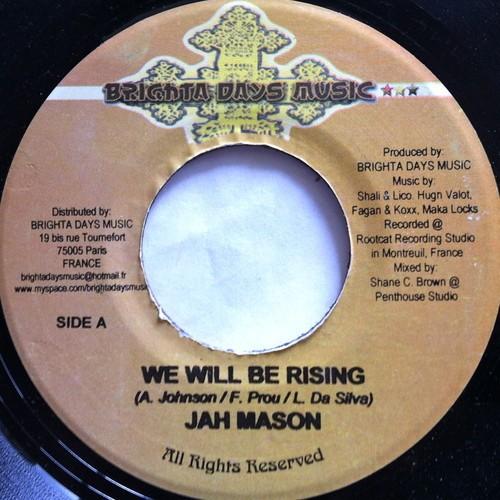 Jah Mason : We Will Be Rising | Single / 7inch / 45T  |  FR
