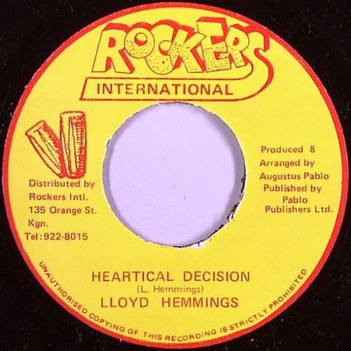 Lloyd Hemmings : Heartical Decision | Single / 7inch / 45T  |  Collectors