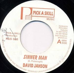 David Jahson : Sinner Man   Single / 7inch / 45T     UK