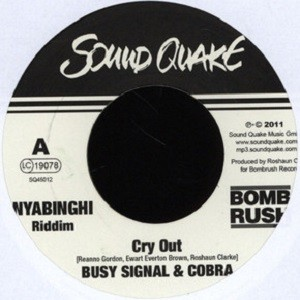 Busy & Cobra : Cry Out | Single / 7inch / 45T  |  Dancehall / Nu-roots