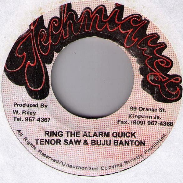 Tenor Saw And Buju Banton : Ring The Alarm Quick | Single / 7inch / 45T  |  Dancehall / Nu-roots