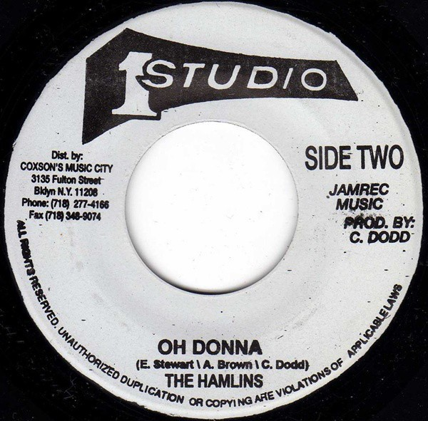 The Hamlins : Oh Donna | Single / 7inch / 45T  |  Oldies / Classics