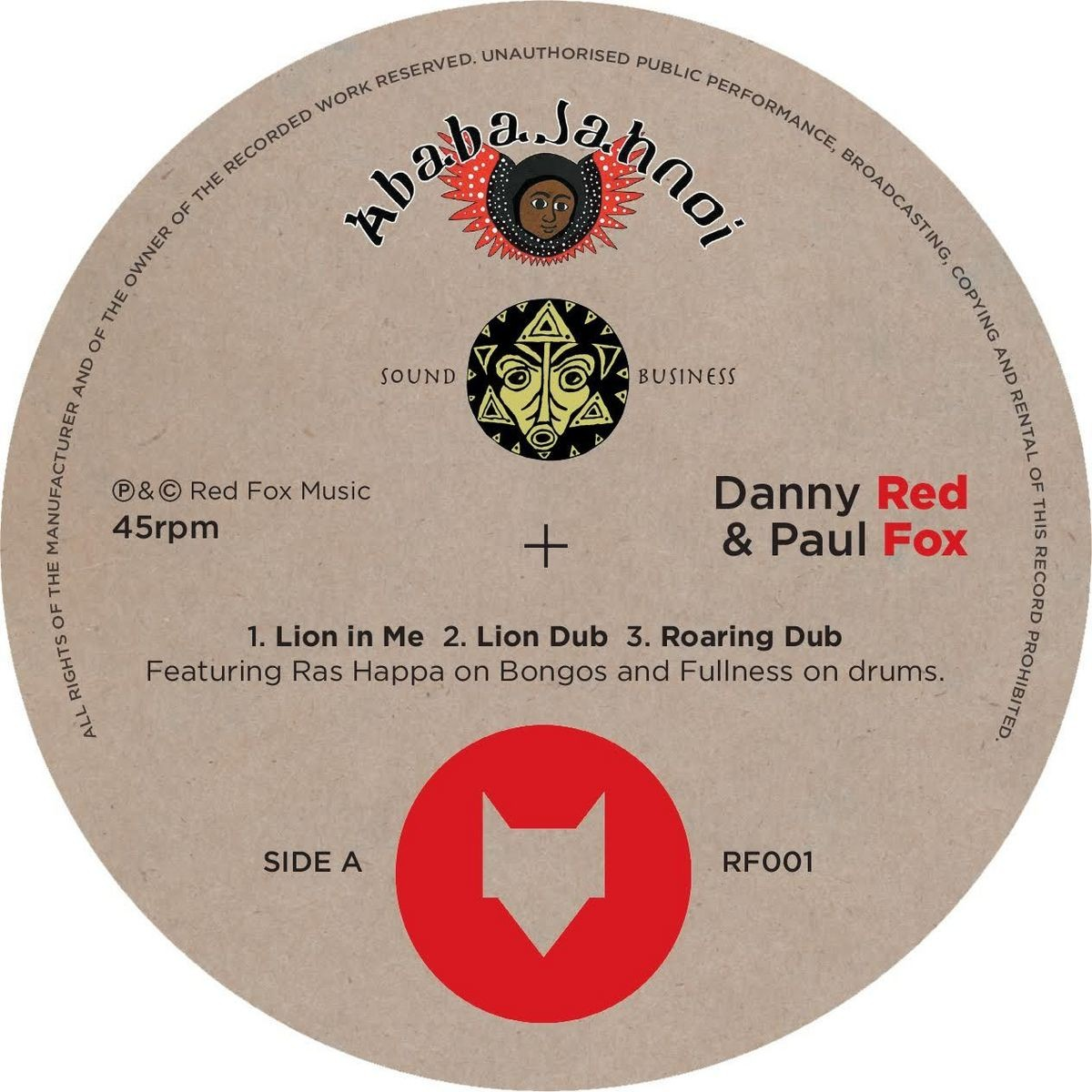 Danny Red & Paul Fox : Lion In Me | Maxi / 10inch / 12inch  |  UK