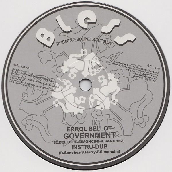 Errol Bellot : Government | Maxi / 10inch / 12inch  |  UK