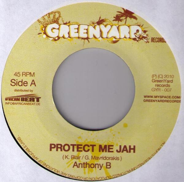 Anthony B : Protect Me Jah | Single / 7inch / 45T  |  Dancehall / Nu-roots