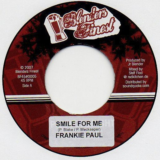 Frankie Paul : Smile For Me   Single / 7inch / 45T     Dancehall / Nu-roots