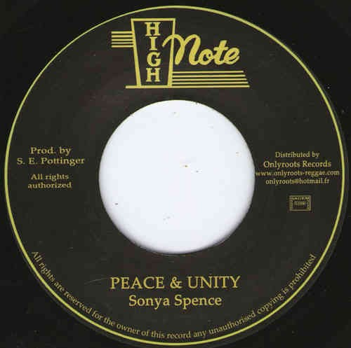 Sonya Spence : Peace & Unity   Single / 7inch / 45T     Oldies / Classics
