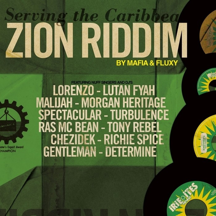Various : Zion Riddim By Mafia & Fluxy   LP / 33T     One Riddim