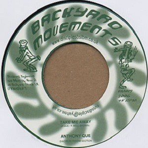 Anthony Que : Take Me Away | Single / 7inch / 45T  |  UK