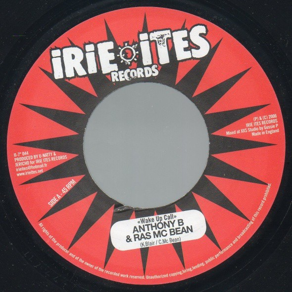 Anthony B & Ras Mcbean : Wake Up Call | Single / 7inch / 45T  |  Dancehall / Nu-roots