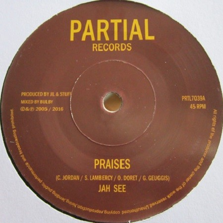 Jah See : Praises   Single / 7inch / 45T     UK