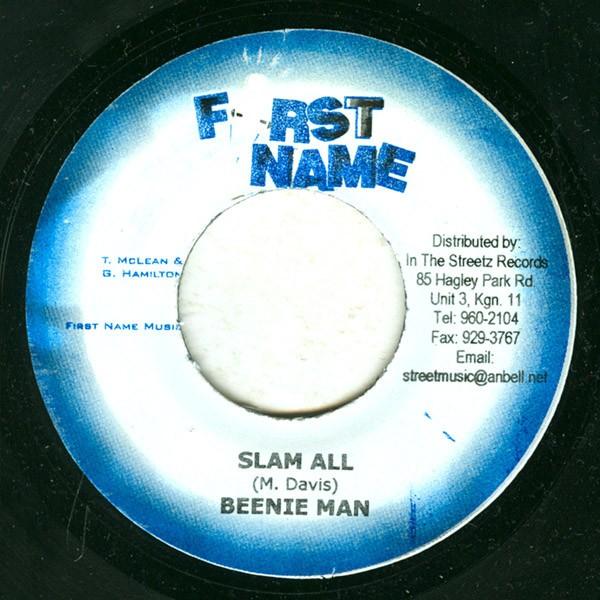 Beenie Man : Slam All   Single / 7inch / 45T     Dancehall / Nu-roots