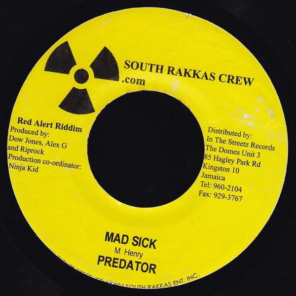 Predator : Mad Sick | Single / 7inch / 45T  |  Dancehall / Nu-roots