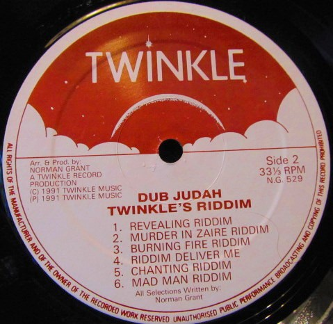 Dub Judah : Twinkle's Riddim | LP / 33T  |  UK