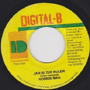Norris Man : Jah Is The Ruler | Single / 7inch / 45T  |  Dancehall / Nu-roots