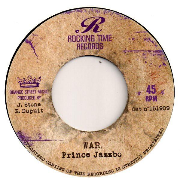 Prince Jazzbo : War   Single / 7inch / 45T     Dancehall / Nu-roots