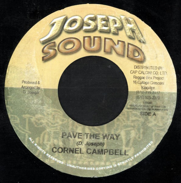 Cornell Campbell : Pave The Way | Single / 7inch / 45T  |  Dancehall / Nu-roots