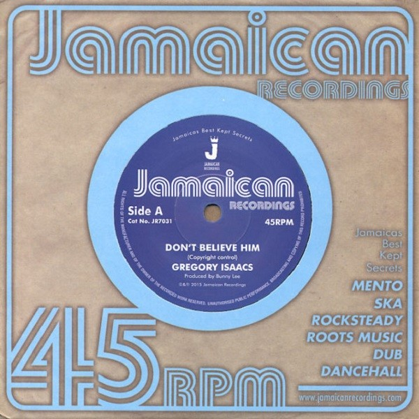 Gregory Isaacs : Don't Beleive In Him | Single / 7inch / 45T  |  Oldies / Classics