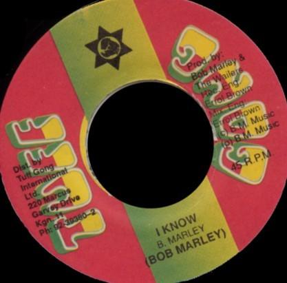 Bob Marley : I Know   Single / 7inch / 45T     Oldies / Classics