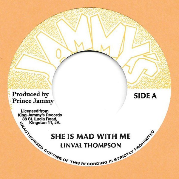 Linval Thompson : She Is Mad With Me | Single / 7inch / 45T  |  Oldies / Classics