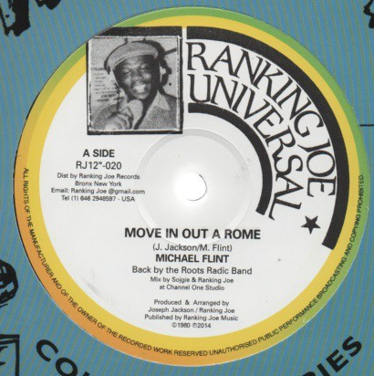 Michael Flint : Move In Out A Rome   Maxi / 10inch / 12inch     Oldies / Classics