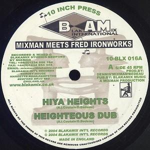 Mixman Meets Fred Ironworks : Hiya Heights   Maxi / 10inch / 12inch     UK