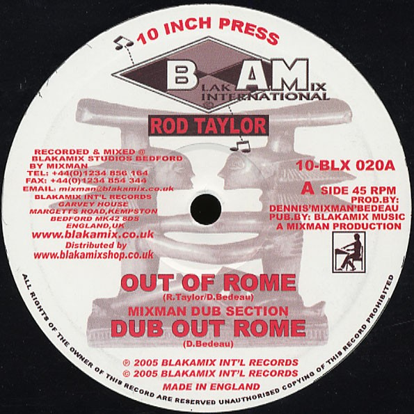 Rod Taylor : Out Of Rome   Maxi / 10inch / 12inch     UK