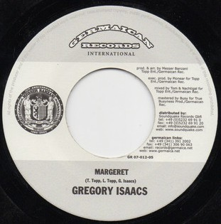 Gregory Isaacs : Margeret | Single / 7inch / 45T  |  Dancehall / Nu-roots