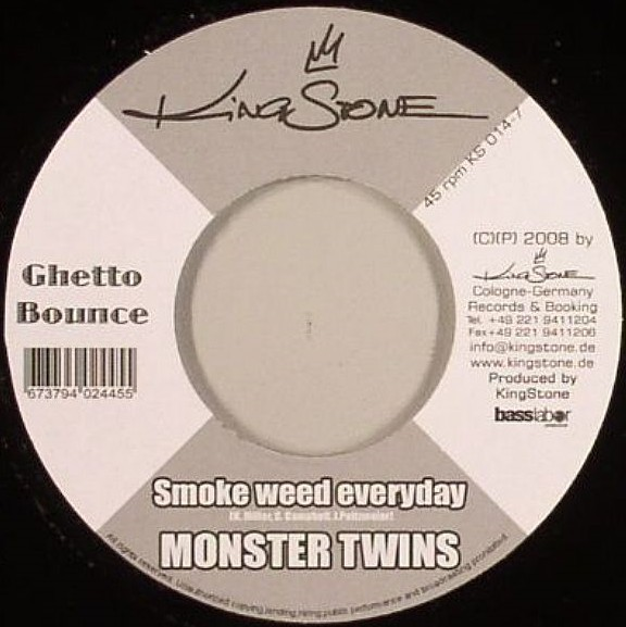 Monster Twins : Smoke Weed Everyday | Single / 7inch / 45T  |  Dancehall / Nu-roots