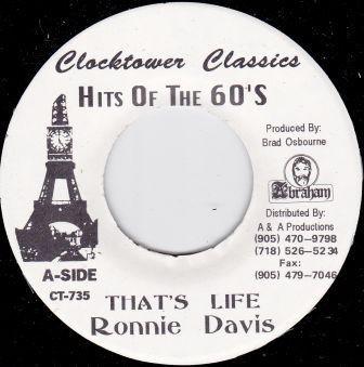 Ronnie Davis : That's Life | Single / 7inch / 45T  |  Oldies / Classics