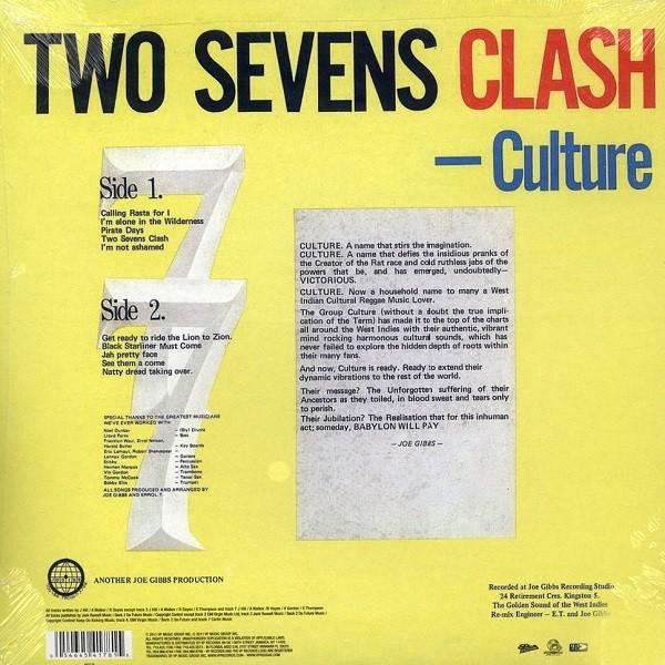 Culture : Two Sevens Clash   LP / 33T     Oldies / Classics