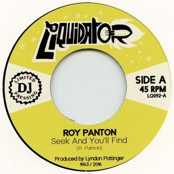 Roy Panton : Seek And You'll Find   Single / 7inch / 45T     Ska / Rocksteady / Revive