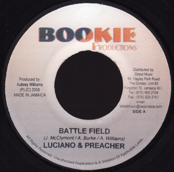 Luciano & Preacher : Battle Field | Single / 7inch / 45T  |  Dancehall / Nu-roots