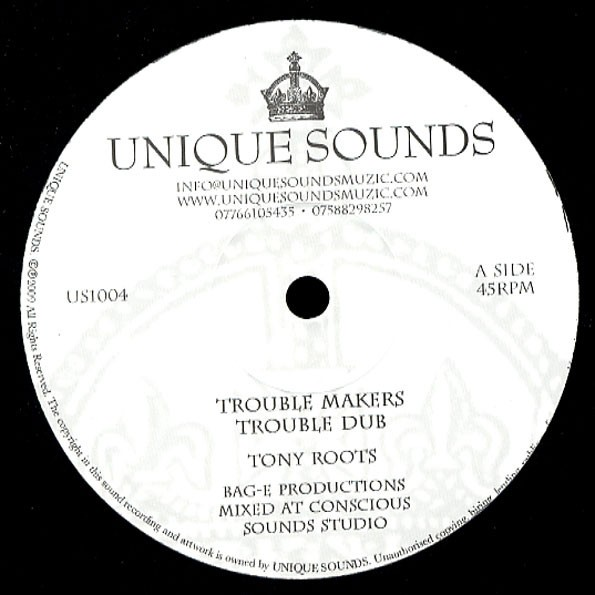 Tony Roots : Trouble Makers | Maxi / 10inch / 12inch  |  UK