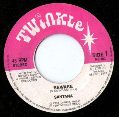 Santana : Beware | Single / 7inch / 45T  |  UK