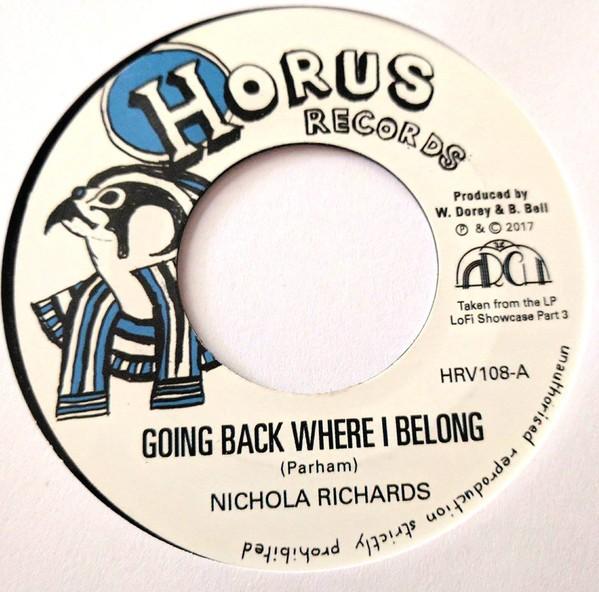 Nichola Richards : Going Back Where I Belong | Single / 7inch / 45T  |  Dancehall / Nu-roots