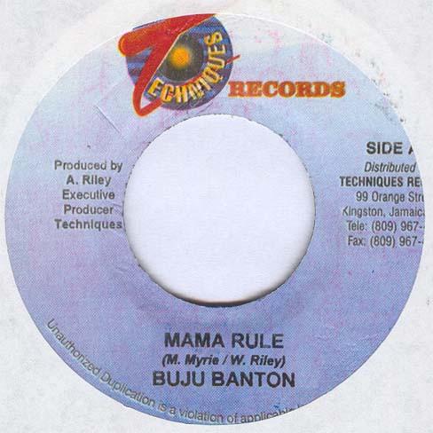 Buju Banton : Mama Rule | Single / 7inch / 45T  |  Dancehall / Nu-roots