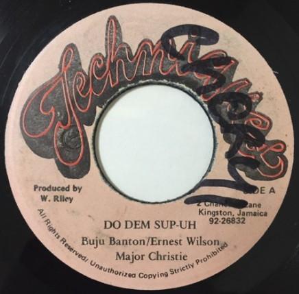 E Wilson, Buju Banton, Major Christie : Do Dem Sump | Single / 7inch / 45T  |  Dancehall / Nu-roots