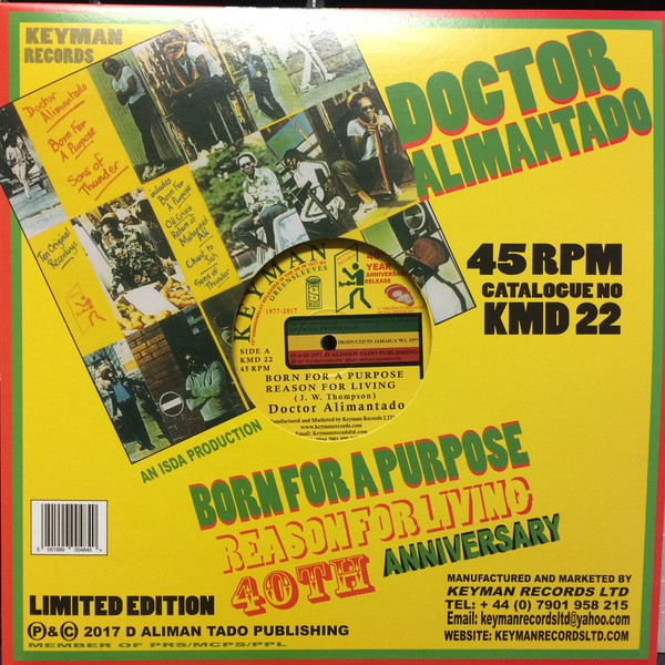 Dr. Alimantado : Born For A Purpose