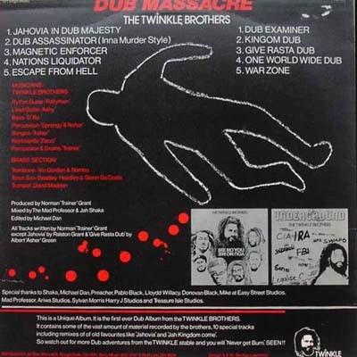 Twinkle Brothers : Dub Massacre | LP / 33T  |  UK