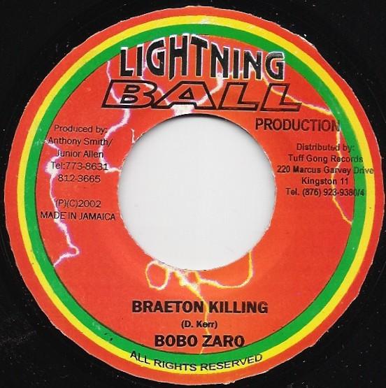 Ras Moses ( Beenie Man ) / Bobo Zarro / Atowa / Terry Ganzie / Terry Ganzie + Zukie Joseph / Ras Jahranimo / Ras Jahranimo & Kirk Davis : 4X45t Lightning Ball Production   Single / 7inch / 45T     Dancehall / Nu-roots