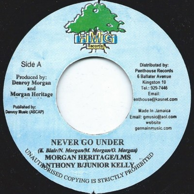 Morgan Heritage & LMS & Anthony B & Junior Kelly : Never Go Under | Single / 7inch / 45T  |  Dancehall / Nu-roots