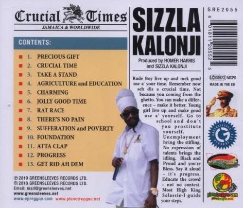 Sizzla Kalonji : Crucial Times   CD     Dancehall / Nu-roots