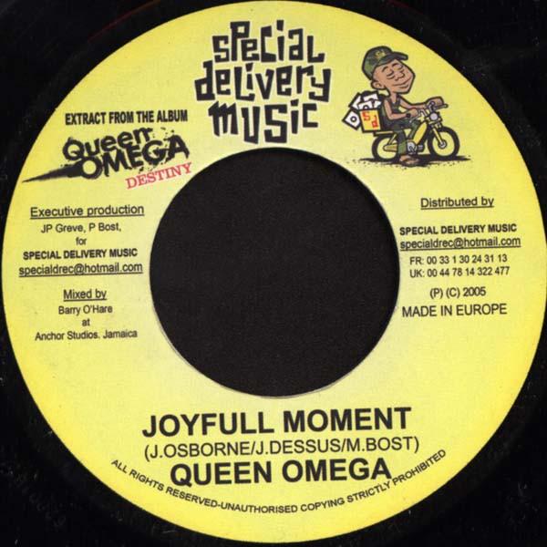 Queen Omega : Joyfull Moment | Single / 7inch / 45T  |  Dancehall / Nu-roots