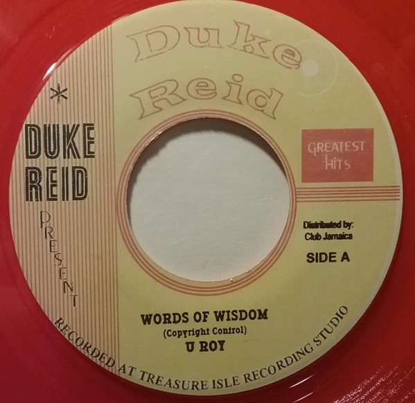 U Roy : Words Of Wisdom | Single / 7inch / 45T  |  Oldies / Classics