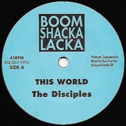 The Disciples : This World | Single / 7inch / 45T  |  UK
