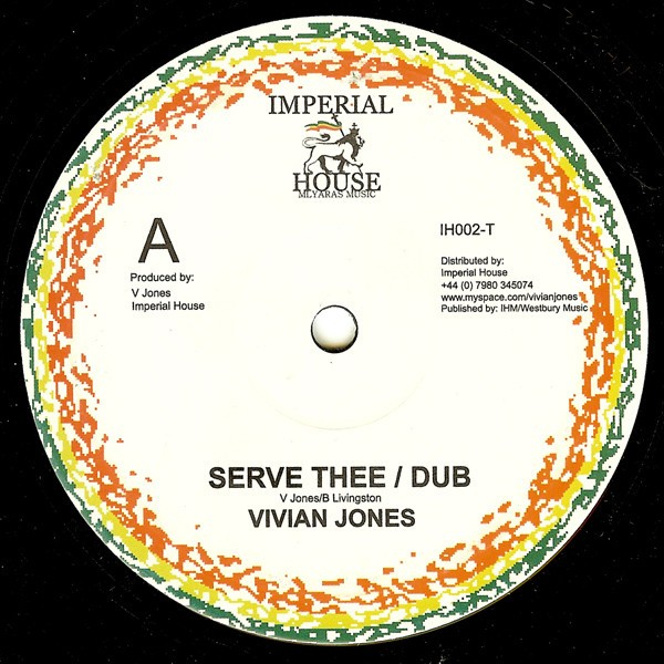 Vivian Jones : Serve Thee | Maxi / 10inch / 12inch  |  UK