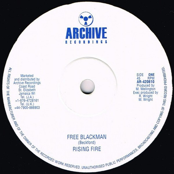 Rising Fire : Free Blackman | Maxi / 10inch / 12inch  |  Oldies / Classics